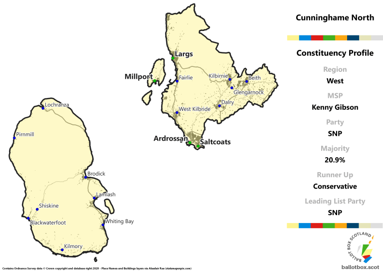 West Region - Cunninghame North Constituency Map