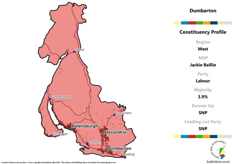 West Region - Dumbarton Constituency Map