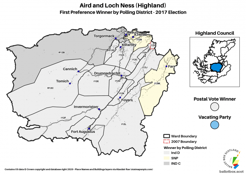Aird and Loch Ness Ward Map 2017