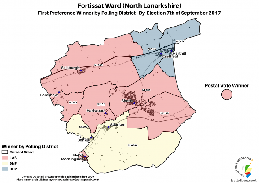 Fortissat 2017 BE Polling Districts Map