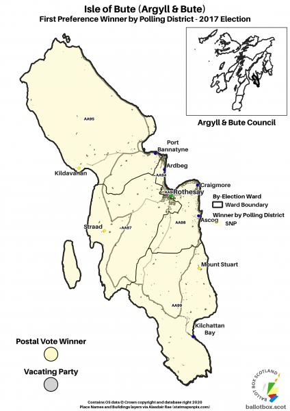 Isle of Bute Ward Map