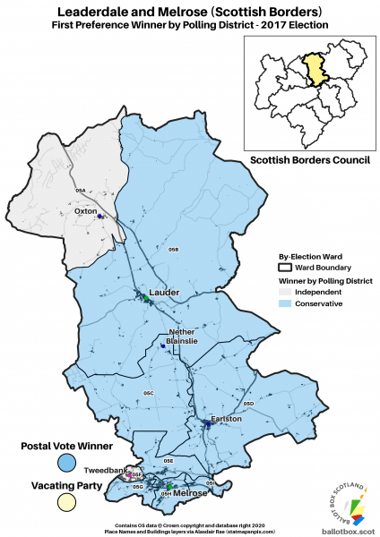 Leaderdale and Melrose Ward Map 2017