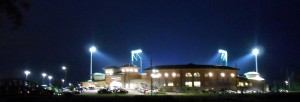 Ballparks just look better under the lights. Photo R. Anderson