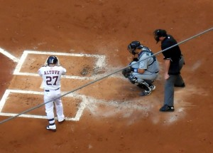 Jose Altuve, the current face of the franchise, is likely the only current Astros player with a chance to see the rebuilding effort all the way through. Photo R. Anderson