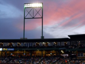Sunsets look best on the beach and at the Ballpark. Photo R. Anderson