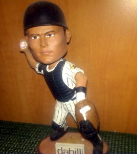 Pudge spent part of the 2009 season with the Houston Astros but was traded back to the Rangers prior to his Bobblehead giveaway game. Photo R. Anderson