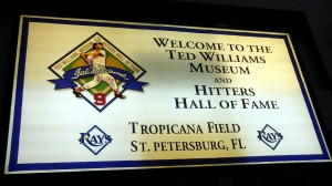 Although he once managed the Rangers the Ted Williams Museum is located inside Tropicana Filed the home Ballpark of the Tampa Bay Rays. Photo R. Anderson