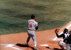 Like Derek Jeter, Cal Ripken, Jr. spent his entire career with the same team. Like Cal Ripken, Jr. Jeter is likely a first time ballot Hall of Famer. Photo R. Anderson