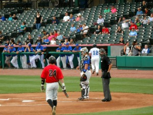 The Sugar Land Skeeters of the Atlantic League tuned up for the regular season with a pair of games against the Alvin Community College Dolphins. Photo R. Anderson