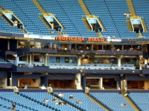 Following the announcement that David Price was traded many Rays fans stated that they would not return to Tropicana Field. It is unlikely that such a fan boycutt would have any measurable effect on the bottom line financials for the team. Photo R. Anderson.