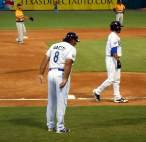 Sugar Land Skeeters manager Gary Gaetti led his team to the playoffs for the second straight season. The Skeeters opened the Atlantic League Championship Series last night. Photo R. Anderson
