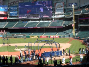 Batting Practice is just one of the activites for fans during the Houston Astros Fan Fest. Photo R. Anderson