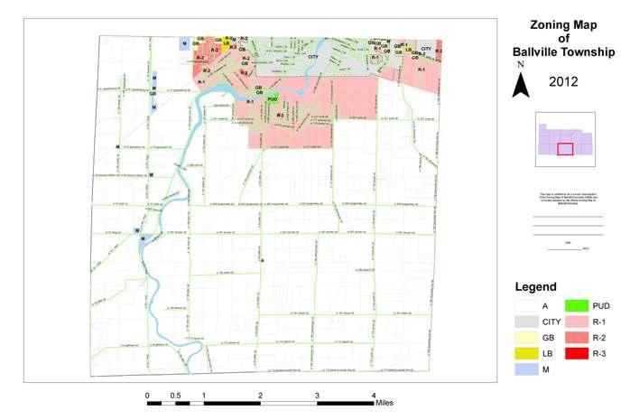 Ballville Township Zoning Map