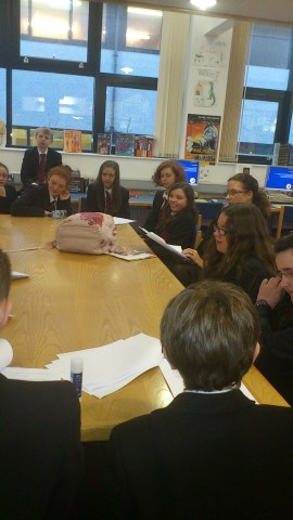 Writing, discussing and revising with visiting author