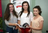 Press Eye © Belfast - Northern Ireland Photo by Freddie Parkinson / Press Eye © Wednesday 21st June 201 7 Ballyclare High School, Rashee Rd, Ballyclare BT39. Year 13 University Road Show. Emily Walker, Therese McKinley of University of Salford and Sophie Gregg
