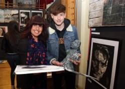 Press Eye © Belfast - Northern Ireland Photo by Freddie Parkinson / Press Eye © Thursday 1st June 2017 Ballyclare High School Art Exhibition. Sharon and Ryan Francey