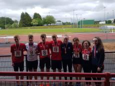 Ballyclare High Inter relays teams, boys and girls both won bronze medals