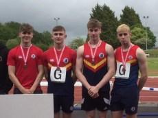 Ballyclare High Senior Boys' Relay Team Bronze Medallists