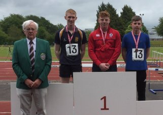 Matthew McCullough Ballyclare High Ulster Senior Discus Champion
