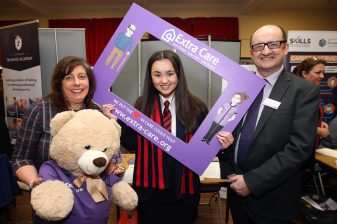 Alison Simpson (Extra Care), Leah Rose and Adrain McKeown (Department for the Economy)