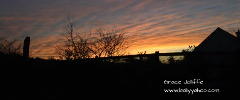 beautiful sunsets in Ireland's magic town of Ballyyahoo