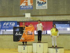 Balma Arc Club - Championnat de ligue jeunes Carcassonne - Podium Méganne Houdayer