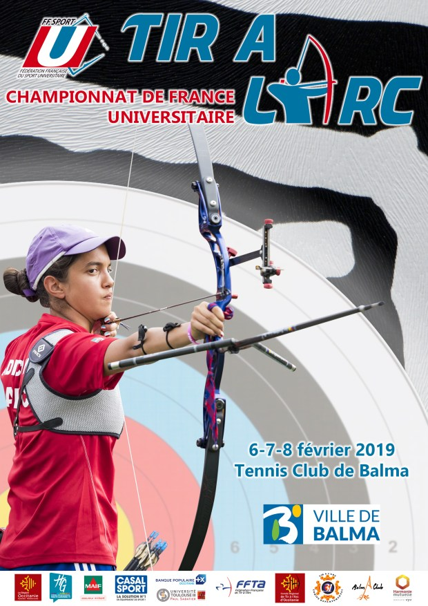 Balma Arc Club - Affiche Championnat de France Universitaire de tir à l'arc