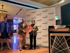 Kevin Wall and Ruby Sutherland Receiving the Para Shield