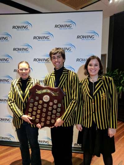 Nikolai, Tahli and Stephanie with the Para Shield