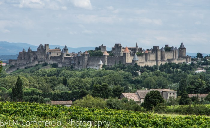 A view of Carcasonne from 3 kilometers away.