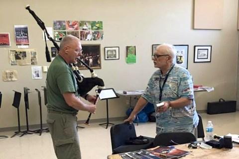 George Balderose teaches piping in Pittsburgh.