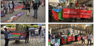 BRP & BRSO protests in London & Busan against army aggressions in Balochistan
