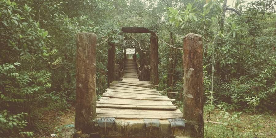 Cây cầu dây mở lối đến Suối Đá Bàn