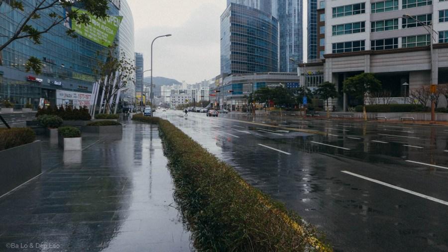 Một buổi chiều mưa ở Busan