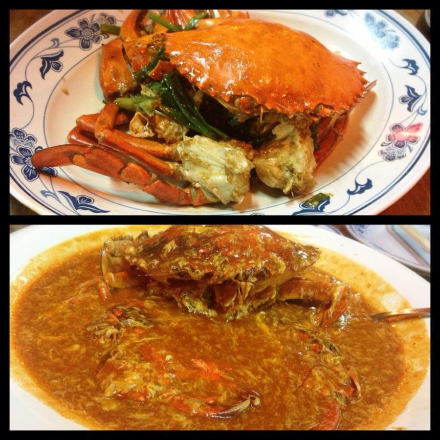 Trong một bữa tối hai vợ chồng mình không kiềm chế nổi gọi cả chili crab và pepper crab. No không thở được luôn ;))
