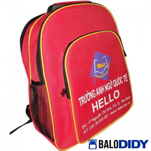 Balo quà tặng cho học sinh trường Hello