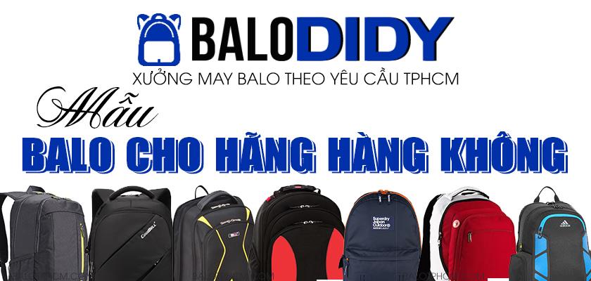May balo cho hãng hàng không làm quà tặng, quảng cáo - Balo DiDy