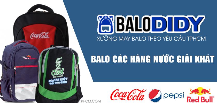 Xưởng may balo DiDy chuyên may balo các hãng nước giải khát nổi tiếng ở Việt Nam làm quà tặng, quảng cáo