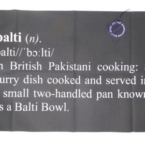 Extra Large Balti Lover Tea Towel
