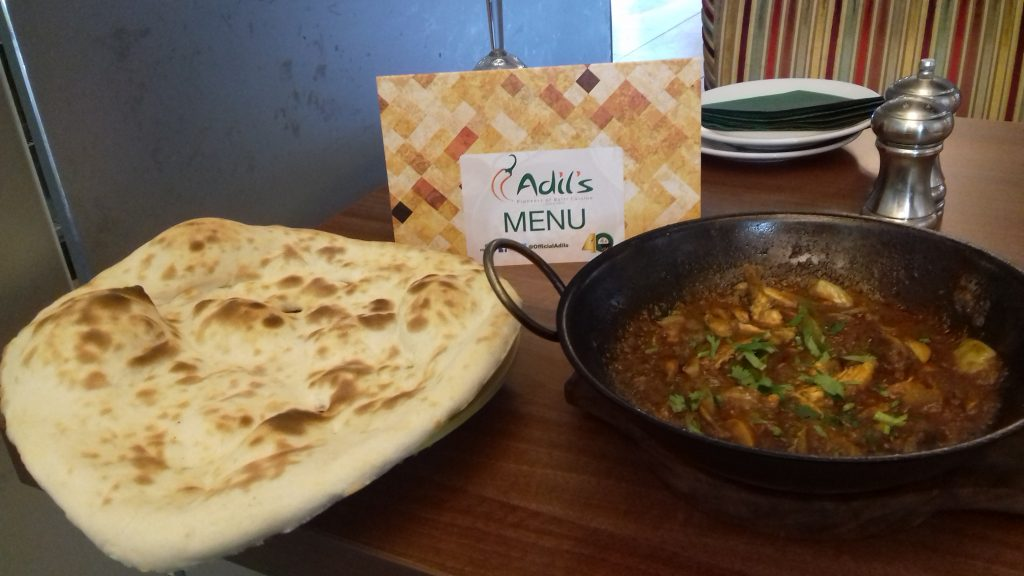 Aldil's Menu with Balti and Nan