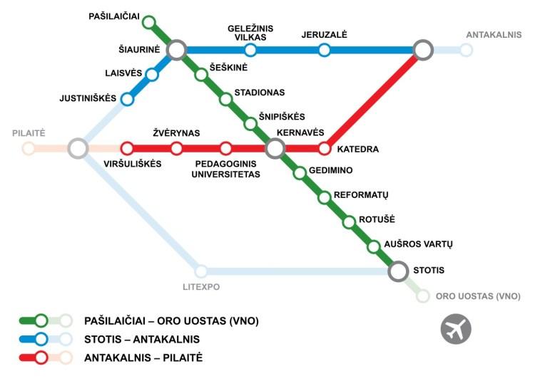 Vilnius Metro map