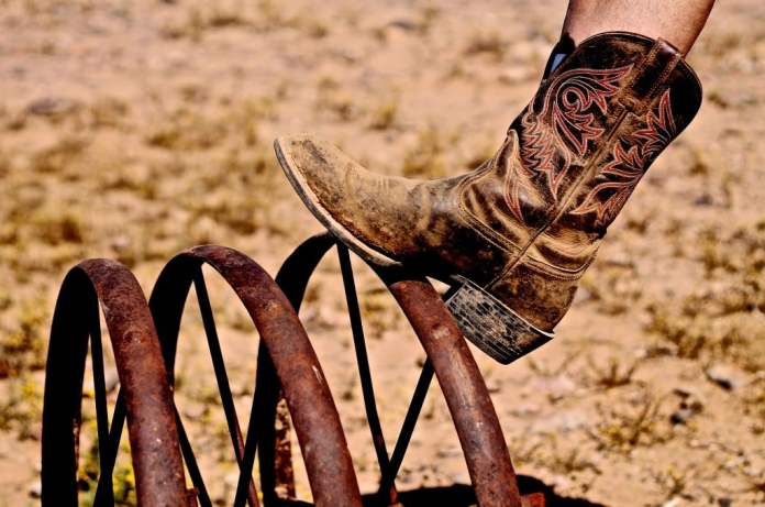Marlene's cowboy boots. © Bibbi Abruzzini.