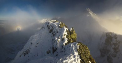 Brocken Spectre And The Mountain Swinica