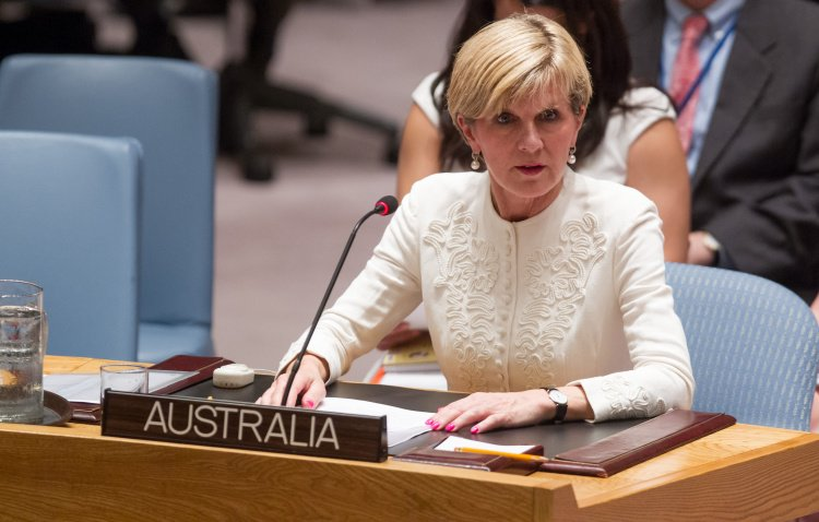 Pictured is Julie Bishop, Minister of Foreign Affairs of Australia. Who was in favor of establishing a tribunal. UN Photo/Loey Felipe