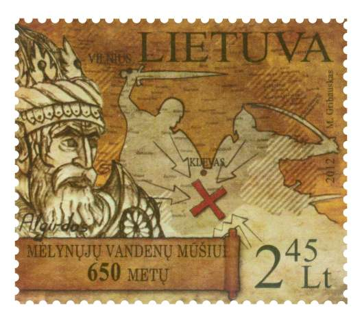 Lithuanian postage stamp 2012
