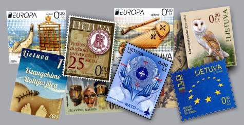 Lithuanian postage stamps 2014