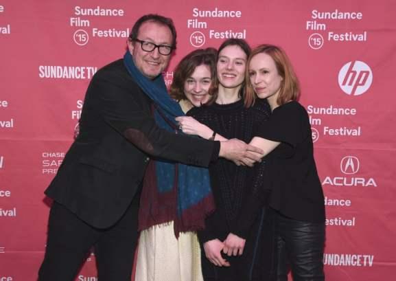 Antoine Simkine, Julija Steponaityte, Alante Kavaite and Aiste Dirziute at event of Sangaile (2015)