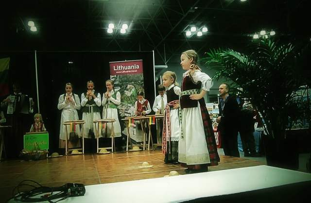 """As Violeta Kundrotienė, pictured playing the accordion in the back row, puts it, """"the dream for Spindulėlis was simple: to work not for your own good, but to work to preserve Lithuanian roots."""" Photo: Ann Charles"""