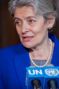 Shown here is Irina Bokova (Bulgaria), Director-General of UNESCO, former Minister of Foreign Affairs of Bulgaria, and candidate for the next UN Secretary-General. UN Photo/Manuel Elias.