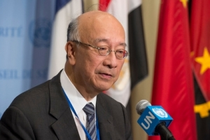 Pictured is Ambassador Koro Bessho, Permanent Representative of Japan to the United Nations, and President of the UN Security Council for the month of July. UN Photo/Esknder Debebe.